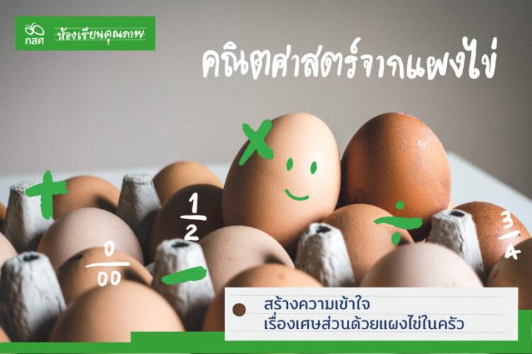 สร้างความเข้าใจเรื่องเศษส่วนด้วยแผงไข่ในครัว